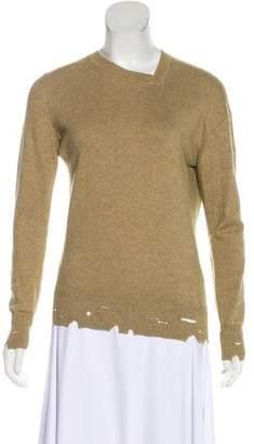 Etoile Isabel Marant Distressed Long Sleeve Sweater