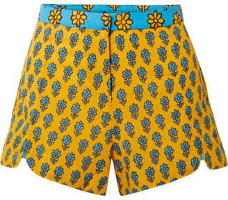 Rhode Resort - Sami Printed Cotton Shorts - Marigold