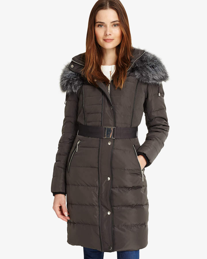 Brisa Long Side Stitch Puffer