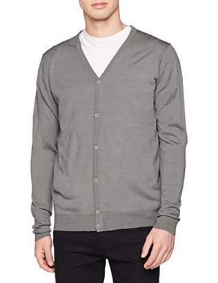Urban Classic Men's Knitted Cardigan Grey 00111