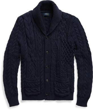 Ralph Lauren Cotton Shawl-Collar Cardigan