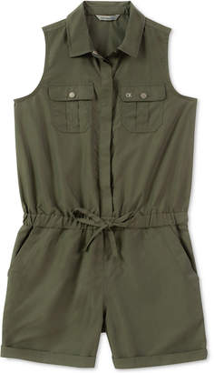 Calvin Klein Big Girls Cargo-Pocket Romper