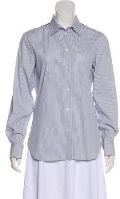 Loro Piana Pinstriped Button-Up Top