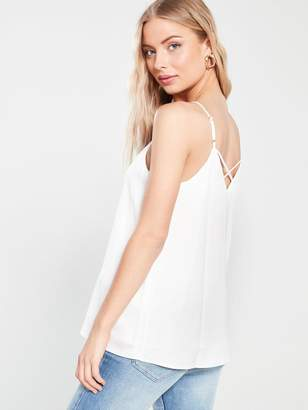 River Island Strappy Cami - White