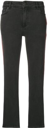 Victoria Victoria Beckham stripe detail corduroy trousers