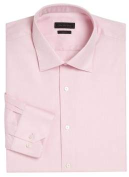 Saks Fifth Avenue COLLECTION Diamond Printed Wrinkle-Free Dress Shirt