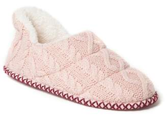 Dearfoams Women's Quilted Cable Knit Shootie Slippers
