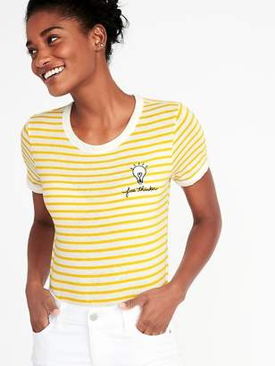 Old Navy Tuck-In Slim-Fit Graphic Tee for Women