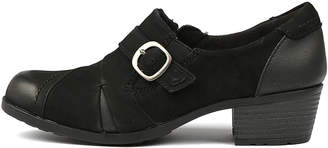 Planet Tape Black Shoes Womens Shoes Comfort Heeled Shoes