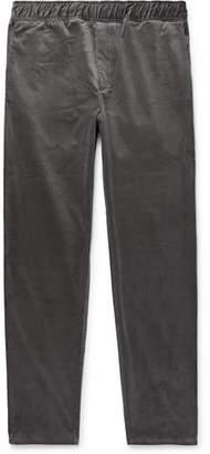 Bottega Veneta Anthracite Cotton-Corduroy Trousers - Men - Anthracite