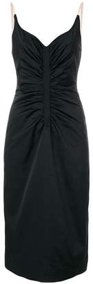 No.21 ruched fitted midi dress