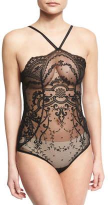 I.D. Sarrieri Juliette Thong-Back Bodysuit, Black