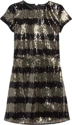Marciano Sequin Stripe Shift Dress