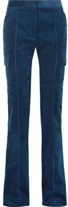 Stella McCartney Cotton-corduroy Straight-leg Pants - Blue