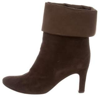 free shipping the cheapest outlet cheap prices MaxMara Suede Round-Toe Ankle Boots cheap choice Dnxh7oQjpM