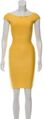 Herve Leger Marina Bandage Dress Yellow Marina Bandage Dress