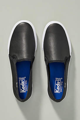 Keds Leather Double Decker Slip-On Sneakers
