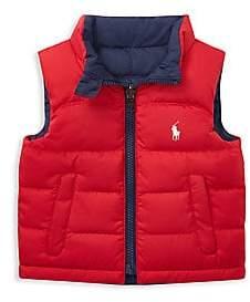 Ralph Lauren Baby Boy's Reversible Quilted Vest