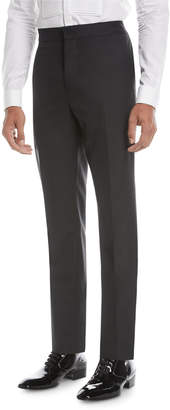 Brunello Cucinelli Wool-Blend Straight-Leg Evening Pants
