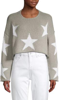 Wildfox Couture Star-Print Cropped Sweater