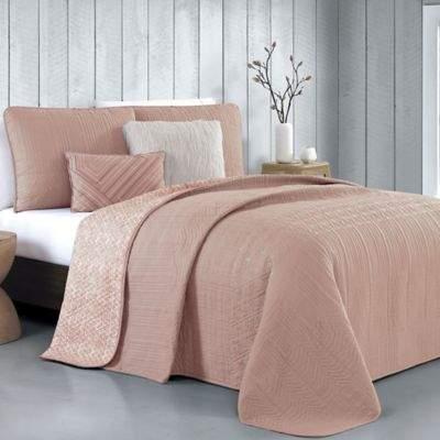 Avondale Manor Tara King Quilt Set in Blush