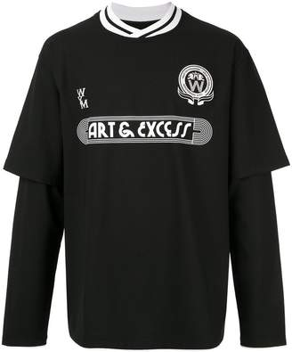 Wooyoungmi football theme layered T-shirt
