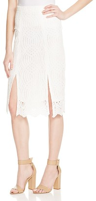 Whistles Clementine Lace Skirt - 100% Exclusive $320 thestylecure.com