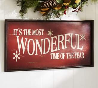 Pottery Barn Wonderful Sign - Red