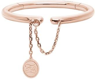 Fendi rigid rose gold-coloured bracelet