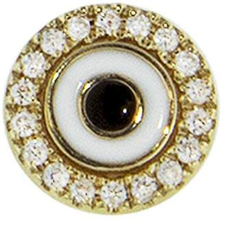 Sydney Evan Diamond and Enamel Evil Eye Single Stud Earring