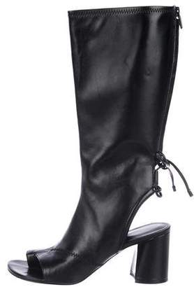 3.1 Phillip Lim Leather Cutout Mid-Calf Boots