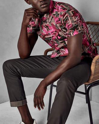 Ted Baker IGLLIPS Geo floral print cotton shirt