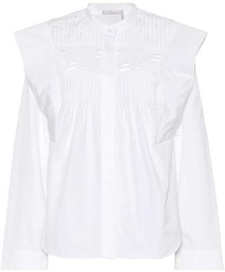 Chloé Ruffled cotton shirt