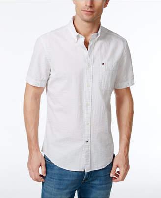 Tommy Hilfiger Men's Jackson Seersucker Short-Sleeve Shirt, Created for Macy's