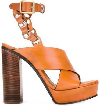 6dd7e89029705c Chloé Brown Women s Sandals - ShopStyle
