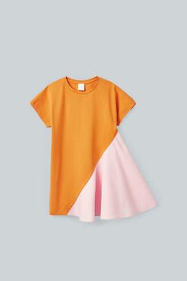 Cos WOVEN-JERSEY COLOUR-BLOCK DRESS