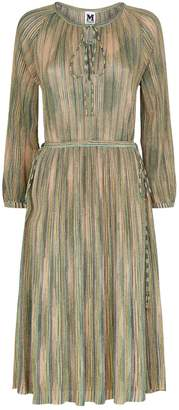 M Missoni Metallic Stripe Dress