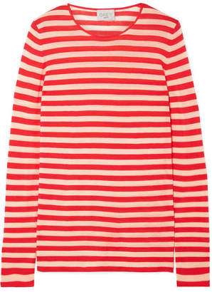 Jason Wu GREY Striped Wool Sweater - Red