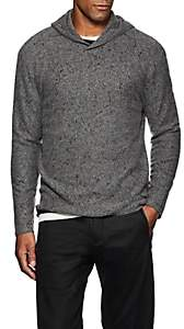 John Varvatos Men's Paint-Splatter-Detailed Wool-Cashmere Hoodie - Dark Gray