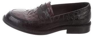 J.W.Anderson Embossed Round-Toe Loafers