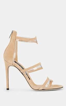 Sergio Rossi Women's Karen Suede & PVC Sandals - Beige, Tan
