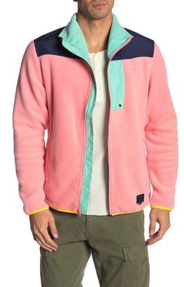 Herschel Colorblock Fleece Zip-Up Jacket