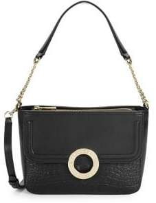 Karl Lagerfeld Paris Textured Leather Crossbody Bag