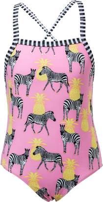 Snapper Rock Zebra Pineapple One-Piece Swimsuit