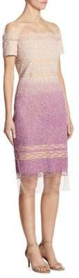 Pamella Roland Sequin Off-The-Shoulder Embellished Dress
