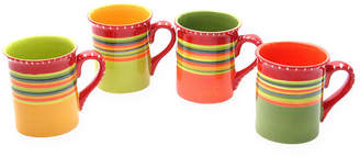 Certified International Hot Tamales Set of 4 Coffee Mugs