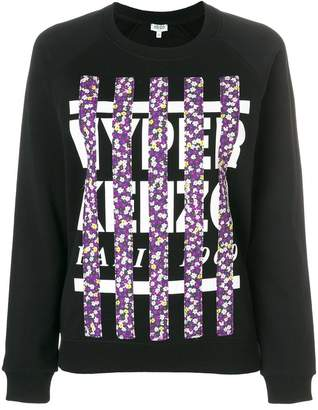 Kenzo floral striped logo sweater