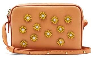 Mansur Gavriel Cammello Floral Embellished Leather Cross Body Bag - Womens - Tan Multi