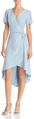 Aqua High/Low Faux-Wrap Dress - 100% Exclusive