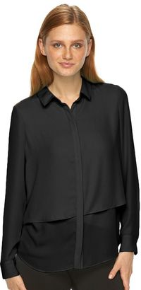 Women's Apt. 9® Layered Georgette Blouse $36 thestylecure.com